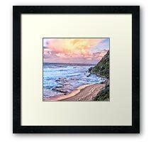 Turimetta Sunset #3 - Turimetta Beach, Sydney Australia - The HDR Experience Framed Print