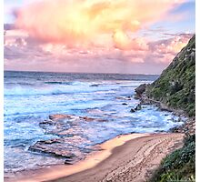 Turimetta Sunset #3 - Turimetta Beach, Sydney Australia - The HDR Experience Photographic Print