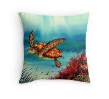 Undersea Garden Throw Pillow