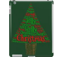 Happy Holly Jolly Christmas Therapy iPad Case/Skin