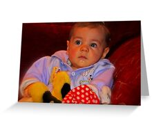 """Parker , 6months old............"" Greeting Card"