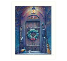 Ghibli Christmas in Howl's Moving Castle Art Print