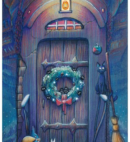Ghibli Christmas in Howl's Moving Castle Sticker