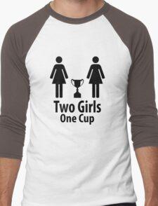 Two Girls One Cup - Parody Men's Baseball ¾ T-Shirt