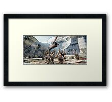 Lann battle  werewolf Framed Print