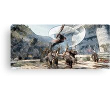 Lann battle  werewolf Canvas Print