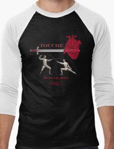 Fencing Touche Heart Men's Baseball ¾ T-Shirt