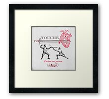 Fencing Touche Heart Framed Print
