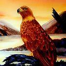 Golden Eagle Majesty by Mae Pilon