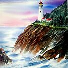 """""""Sunset at Heceta Head Lighthouse"""", Florence, Or. by Mae Pilon"""