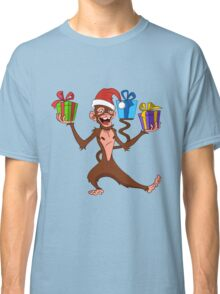 funny monkey with gifts. Classic T-Shirt