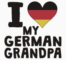 I Heart My German Grandpa Kids Tee