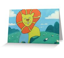 sunshine lion Greeting Card