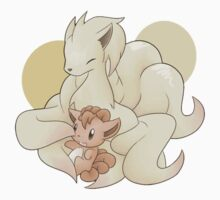 Ninetails and Vulpix by dtdream