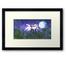 Flying elf Framed Print