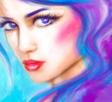 woman fantasy beautiful portrait  Sticker