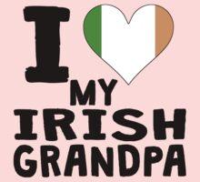 I Heart My Irish Grandpa One Piece - Long Sleeve