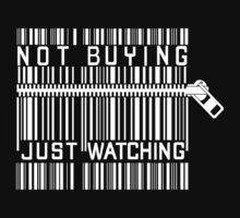 Funny Anti Shopping Bar Code Zipper Funny T-Shirt / Pillow / Tote Bag Baby Tee