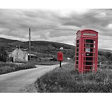 Old telephone box Isle of Skye Photographic Print