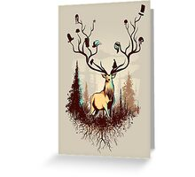 A Rustic Hat Rack Greeting Card