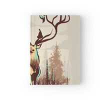 A Rustic Hat Rack Hardcover Journal