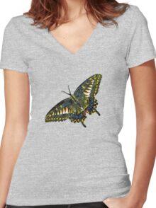 Butterfly Art 4 Women's Fitted V-Neck T-Shirt