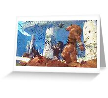 Killing werewolf Greeting Card