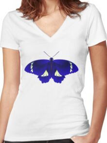 Butterfly Art 6 Women's Fitted V-Neck T-Shirt