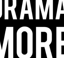less drama more cats Sticker