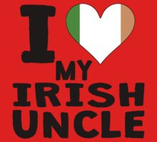 I Heart My Irish Uncle Kids Tee