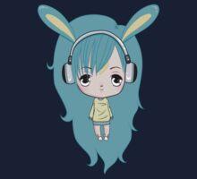 Cute Bunny Character Kids Tee