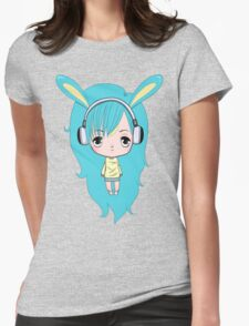 Cute Bunny Character Womens Fitted T-Shirt