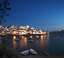 Evening Lights at Ferragudo by A3Art