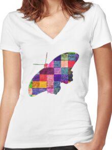 Butterfly art 12 Women's Fitted V-Neck T-Shirt