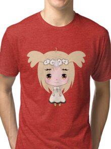 Cute Unicorn Character Tri-blend T-Shirt