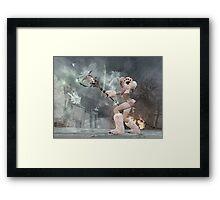 Ice skill beargirl Framed Print