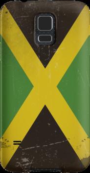 Vintage flag of Jamaica by TilenHrovatic