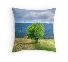 Farm Tree Throw Pillow