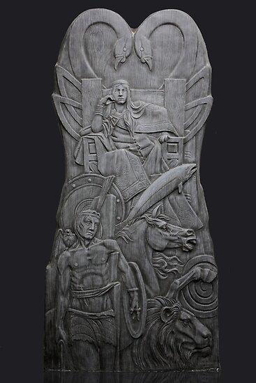 Tullylish Love/ Contemplation Seat: 8ft x 4ft Sculpture by Darren Sutton by John Darren Sutton