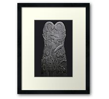 Tullylish Love/ Contemplation Seat: 8ft x 4ft Sculpture by Darren Sutton Framed Print
