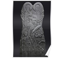 Tullylish Love/ Contemplation Seat: 8ft x 4ft Sculpture by Darren Sutton Poster
