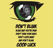 Don't Blink. Good Luck. One Piece - Short Sleeve