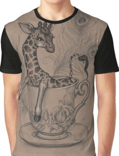 TeaCup Giraffe  Graphic T-Shirt