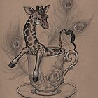 TeaCup Giraffe  by justteejay