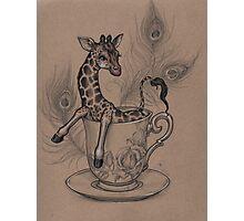 TeaCup Giraffe  Photographic Print
