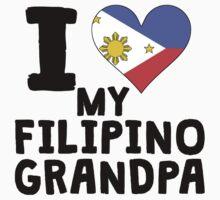 I Heart My Filipino Grandpa One Piece - Short Sleeve