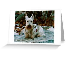 Scottie on a Hike Greeting Card