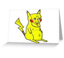 Handsome Pikachu Greeting Card