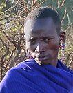Maasai Warrior by Linda Sparks