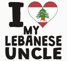 I Heart My Lebanese Uncle Kids Tee
